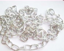 Bright Silver Plated lightweight chain 5m. Links12mm x 7mm.